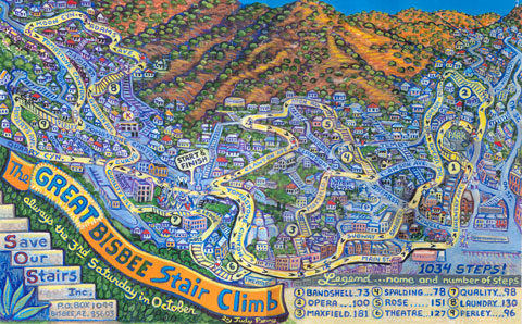 Bisbee Great climb poster Judy Perry.